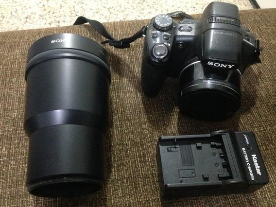 Camera Sony Cyber Shot Hx1 Kit C/ Rara Lente Tele Conversion