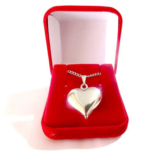 Colar Coração Amor De Aço Inox Namorados