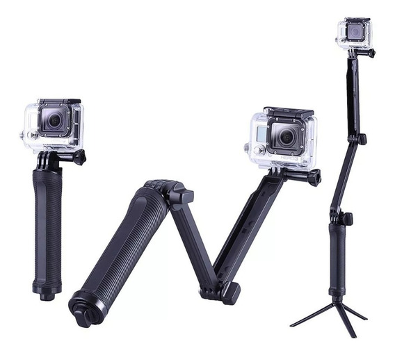 Bastão Monopod Retrátil Gopro Hero 5 4 3 3+ Tripe 3 Way