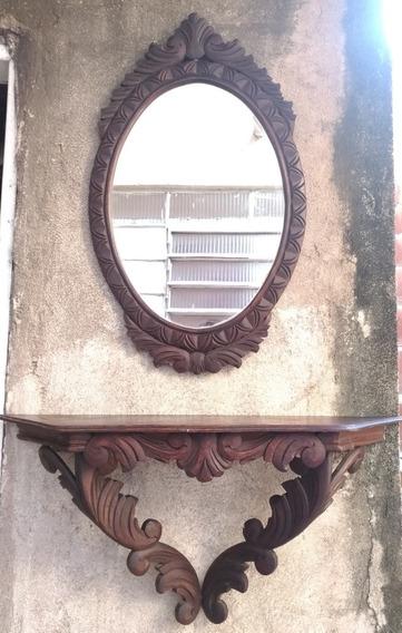 Aparador Com Espelho Em Cerejeira Década 1960