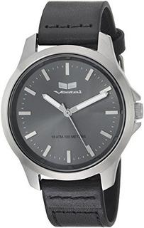 Reloj De Pulsera De Acero Inoxidable Y Cuero Vestal Quartz C