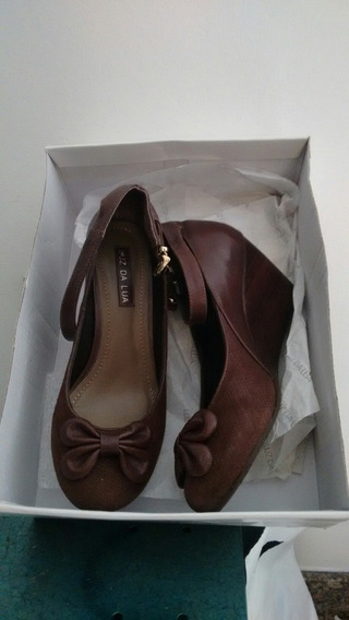 Sapato Ana Bela , Luz Da Lua, Marrom