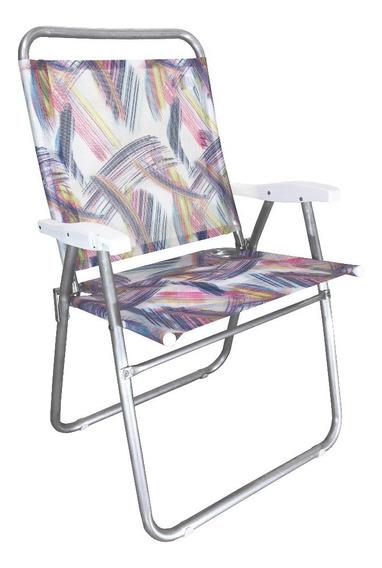 Cadeira De Praia King Zaka Aquarela 140kg