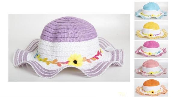 Sombrero Capelina Playera Para Nenas Color A Elegir 4510