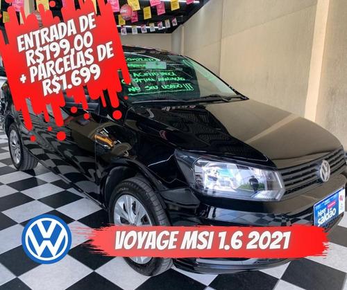 Volkswagen Voyage Msi Flex 8 1.6 Preta 2020/2021 Flex M