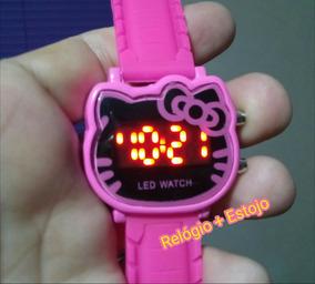 Relógio Hello Kitty Criança & Adolescente Pulso Led Digital