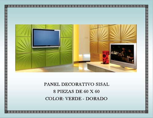 Panel Decorativo De Fibra De Cerámica Modelo Sisal Juego