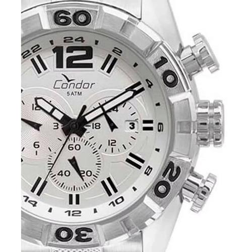Relógio Condor Prateado Masculino Covd33au/3b Cronógrafo