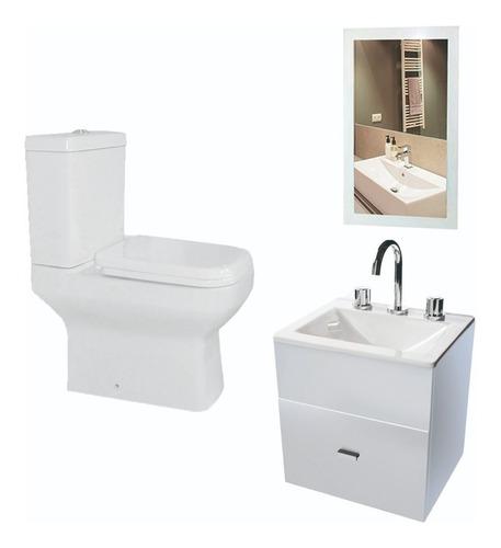 Imagen 1 de 5 de Combo Simple Para Baño Inodoro Pringles Vanitory 40c- Cuotas