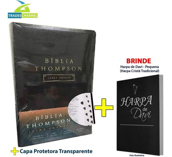 Bíblia Thompson Grande - Preta + Indice + Capa + Harpa Brind