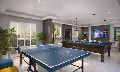 Imagem 1 de 25 de Apartamento Com 2 Dormitórios À Venda, 56 M² Por R$ 305.000,00 - Mirim - Praia Grande/sp - Ap0971