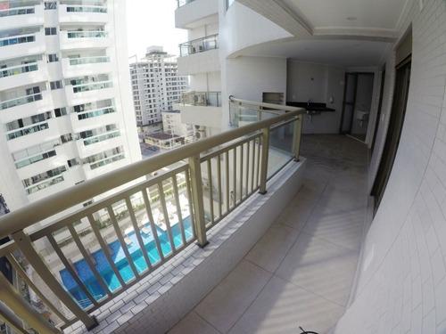 Imagem 1 de 30 de Apartamento Novo Alto Padrão Com 2 Dormitórios Sendo 1 Suíte À Venda, 91 M² Por R$ 490.000,00- Canto Do Forte - Praia Grande/sp - Ap3665