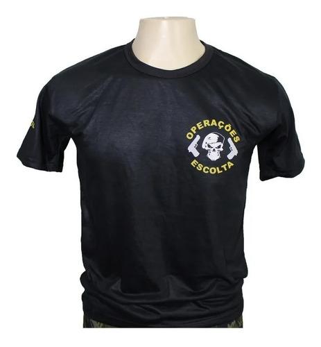 Camisa Tática Escolta Armada Vigilante Preta