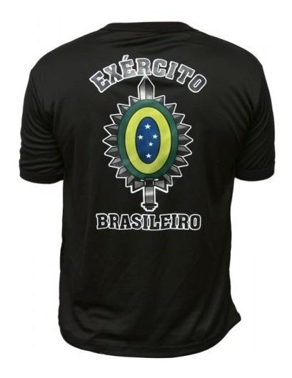 Camiseta Estampada Exército Brasileiro - Brasão Eb Dry-fit
