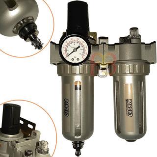 Filtro Regulador De Aire Lubricador Cuerpo Aluminio 1/4 Pg