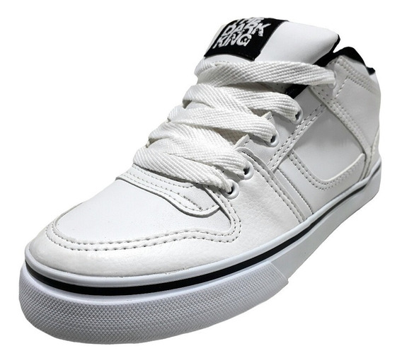 Zapatillas De Skate Cuero Blancas The Dark King