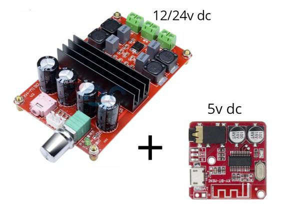 Amplificador Digital Stéreo 200wrms+ Placa D Áudio Bluetooth