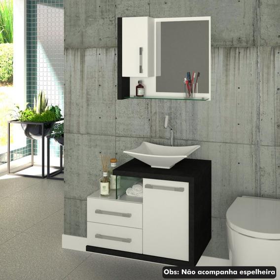 Gabinete Armário P/banheiro (balcão+cuba L38) Legno 650 *