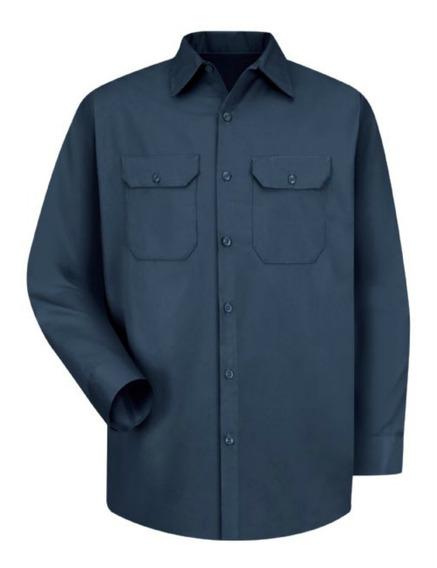 Camisa De Trabajo Azul Marino Red Kap Talla Grande