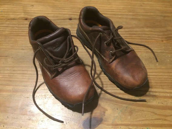 Zapatos Timberland Acordonados Cuero Colegio Niño T34.5 Eu