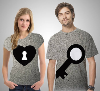 Camisetas Casal - A Chave E A Fechadura