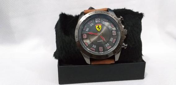 Relógio Ferrari Masculino Couro Marrom