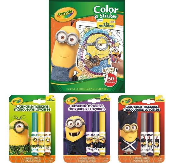 Livro Para Colorir Minions Ganhe 01 Canetinha Minions
