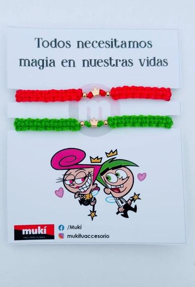 Pulseras Amigos(as) Duo Padrinos Mágicos