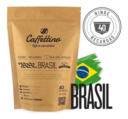 Imagen 1 de 9 de ¼kg Café De Especialidad Brasil P/dolce (40 Usos)