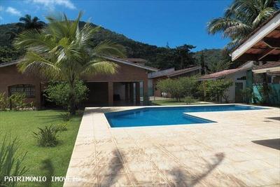 Casa Em Condomínio A Venda Em Ubatuba, Lagoinha, 4 Dormitórios, 4 Suítes, 1 Banheiro, 4 Vagas - 470