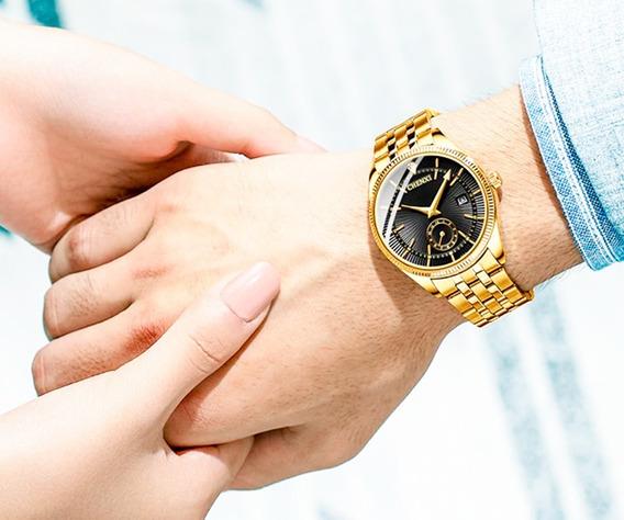 Relógio Masculino Chenxi Dourado