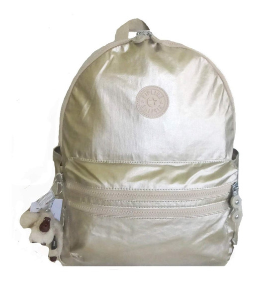 Mochila Kipling Bouree Gleaming Gold Metallic - Original