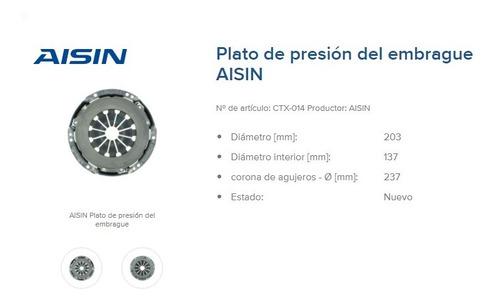 Imagen 1 de 2 de Plato Y Disco De Embragues Marca Aisim Original Kit Toyota