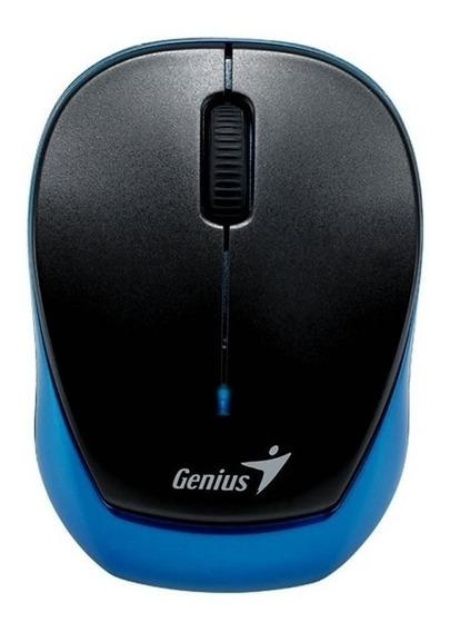 Mouse mini inalámbrico Genius 9000R Micro Traveler azul