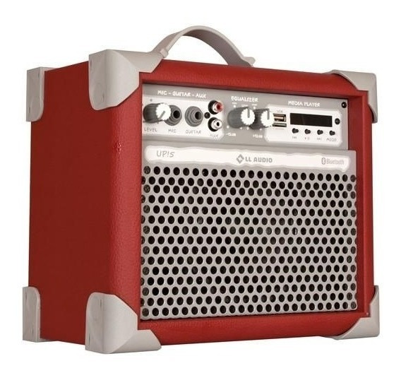 Caixa De Som Amplificada Multiuso Up!5 Red Fm/usb/bluetooth