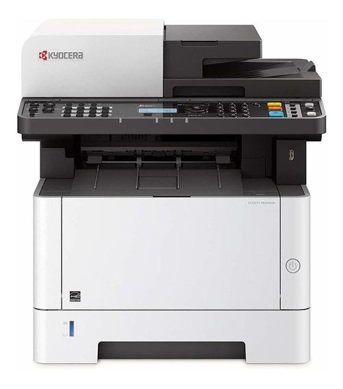 Impressora multifuncional Kyocera Ecosys M2040DN 110V branca e preta