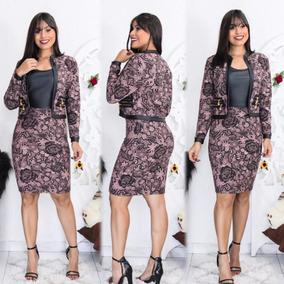 Conjunto Feminino Blazer E Saia Social Moda Evangélica