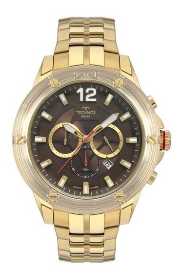 Relógio Technos Masculino Ref: Js26ap/4m Big Case Dourado