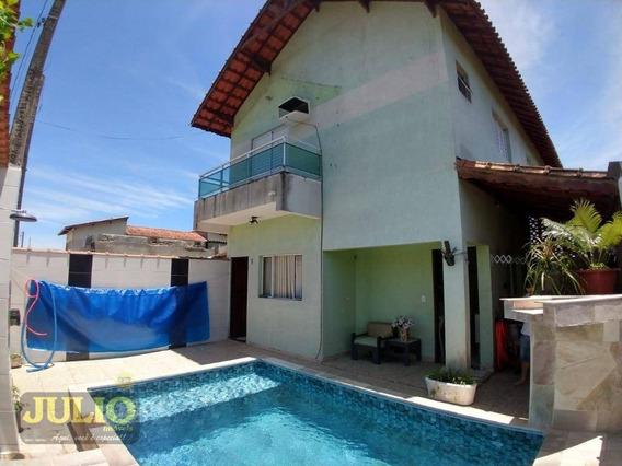Entrada R$ 40 Mil E Saldo Financiado! Sobrado Com 2 Dormitórios Por R$ 199.900 - Jardim Praia Grande - Mongaguá/sp - So0822