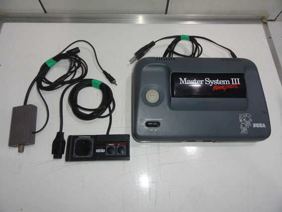 Master System 3 Compact Console Sonic Sega Só Jogar C01