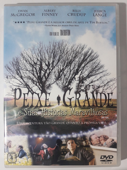 Dvd Peixe Grande E Suas Histórias Maravilhosas Original Raro