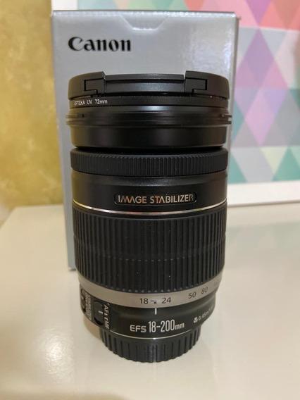 Lente Canon 18-200 Mm + Filtros