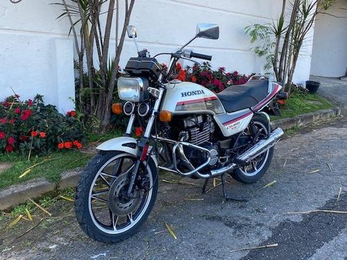 Honda Cb 450 Tr 1986/87 Placa Prata