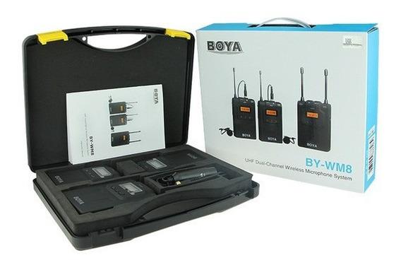 Boya Microfone S Fio Lapela By-wm8 K-2 Canon Nikon Lançament