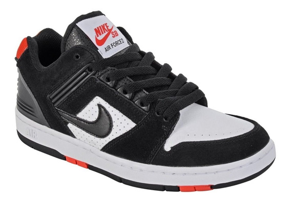 Tênis Nike Sb Air Force 2 Low Preto Branco Original