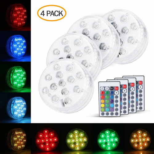 Sumergible 13 Luces Led Piscina Ip68 Impermeable Contro...