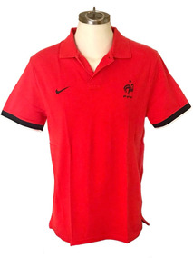 Playera Polo Oficial Francia Nike Talla L Roja