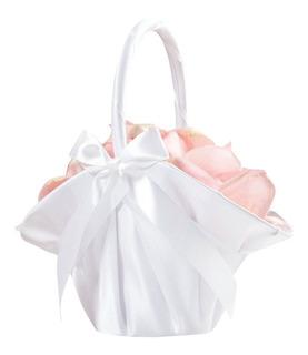 Canasta Para Boda Elegante Color Blanca 24x23cm Lillian Rose