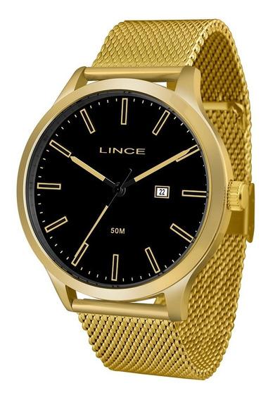 Relógio Masculino Lince Dourado Mrg4494s