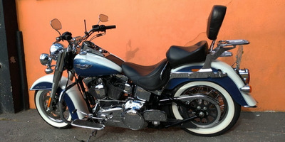 Harley Davidson Softail Deluxe 2015 - Branca E Azul